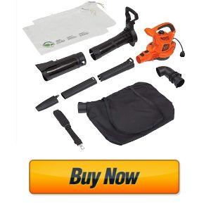 BLACK+DECKER 3-in-1 Electric Leaf Blower & Mulcher With Leaf Vacuum Kit (BV6000)