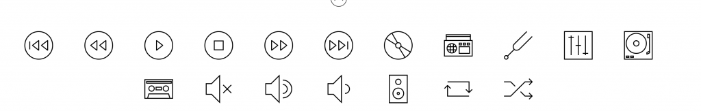 Linea Music Icons Preview