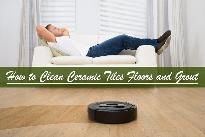 deep clean tile floor