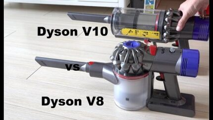 difference between dyson v10 and v8