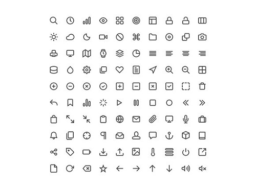 feather icons font