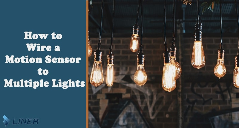 how to wire motion sensor to two lights